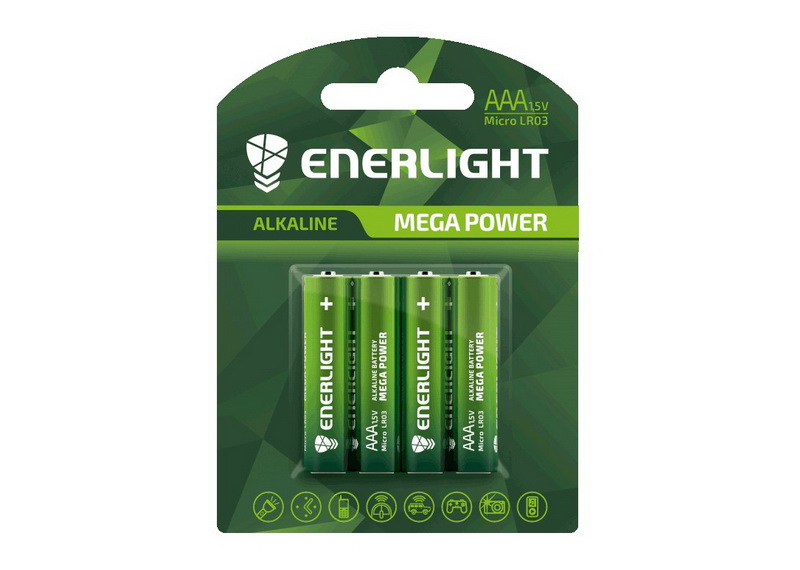 Щелочные батарейки Enerlight Mega Power AAA (4 шт.)
