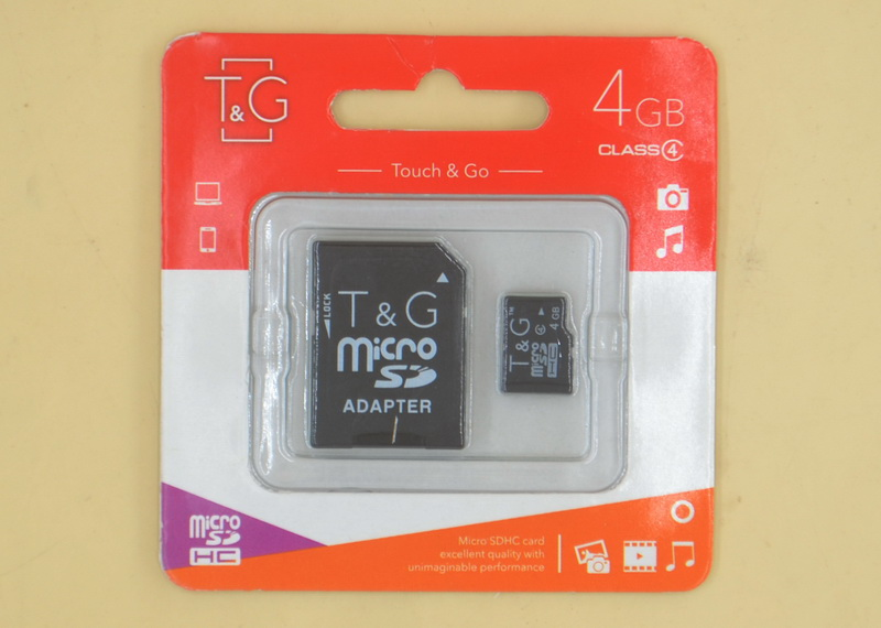 Карта памяти MicroSD Touch and Go 4 Gb (Class 4)